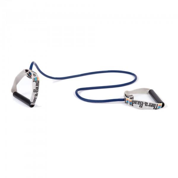 Produktbild TheraBand Bodytrainer Tubing mit festen Griffen, extra stark / blau