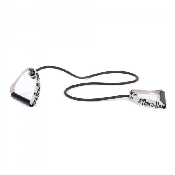 Produktbild TheraBand Bodytrainer Tubing mit festen Griffen, spezial stark / schwarz