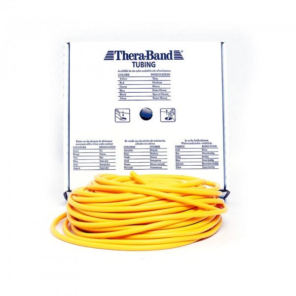 Produktbild TheraBand Tubing 30,5 m, dünn / gelb