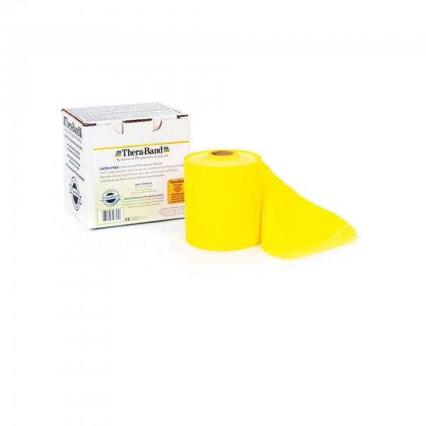 Produktbild TheraBand latexfreies Übungsband 22,85 m, leicht / gelb