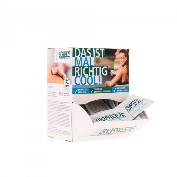 Produktbild Biofreeze - Schmerzgel Musterspender mit 50 Probepackungen á 5 g