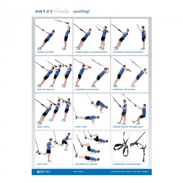 Produktbild Übungsposter ARTZT vitality Schlingentrainer DIN A1
