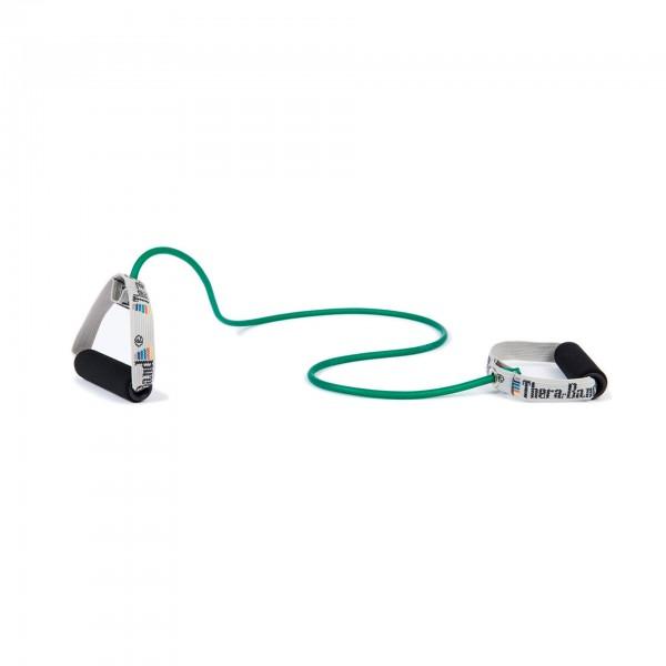 Produktbild TheraBand Bodytrainer Tubing mit Schaumstoffgriffen, stark / grün