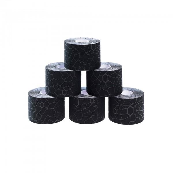 Produktbild TheraBand Kinesiology Tape Rollen-Set 5 m x 5 cm (6 St.), schwarz