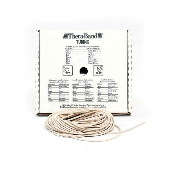 Produktbild TheraBand Tubing 30,5 m, extra dünn / beige