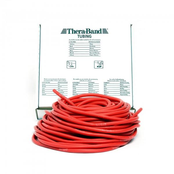 Produktbild TheraBand Tubing 30,5 m, mittel / rot