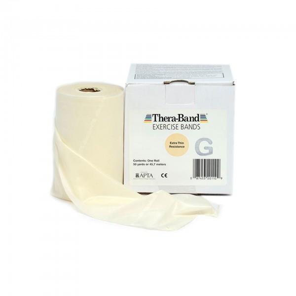 Produktbild TheraBand Übungsband 45,5 m, extra dünn / beige