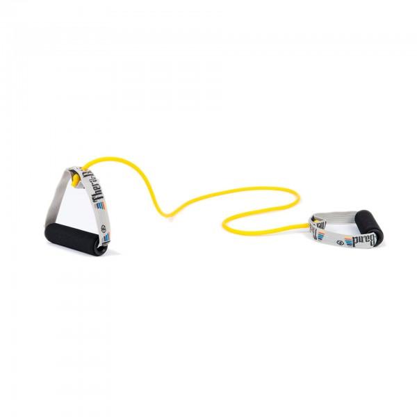 Produktbild TheraBand Bodytrainer Tubing mit Schaumstoffgriffen, dünn / gelb