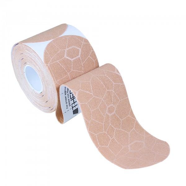 Produktbild TheraBand Kinesiology Tape Precut Rollen (20 Tapes á 25,4 x 5 cm), natur