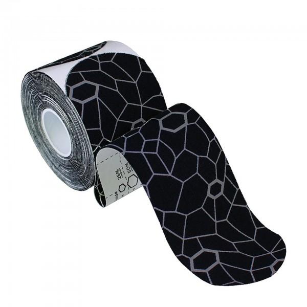 Produktbild TheraBand Kinesiology Tape Precut Rollen (20 Tapes á 25,4 x 5 cm), schwarz