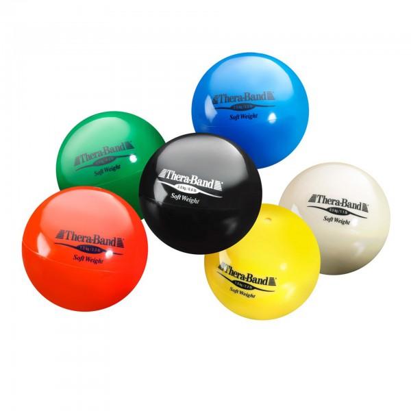 Produktbild TheraBand Soft Weight Set (6 Bälle - je 1 x beige, gelb, rot, grün, blau, schwarz)