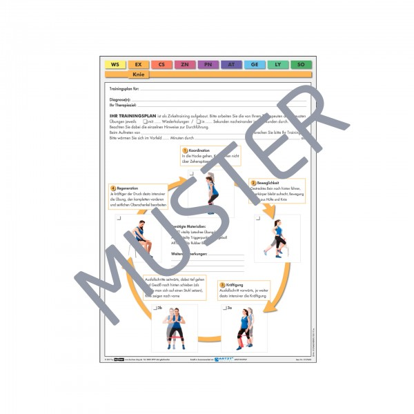 Produktbild ARTZT vitality Trainingsblock, Knie